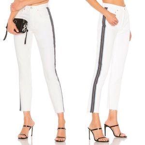 GRLFRND Karolina High Rise Crop White Skinny Jeans